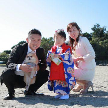 葉山森戸神社での七五三写真撮影